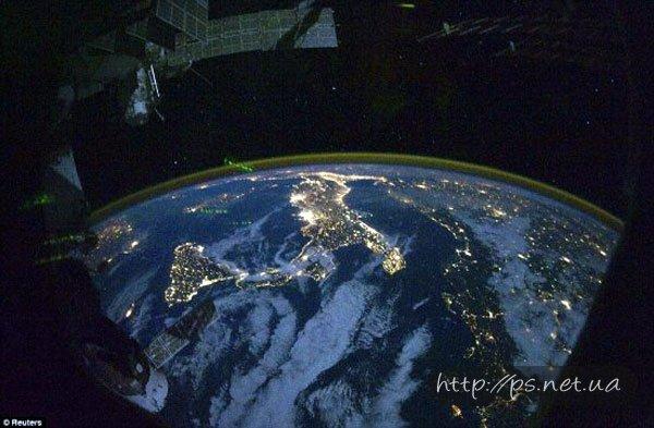 Взгляд на Землю с расстояния 350 км